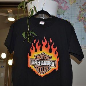 Vintage Harley Davidson flame tee